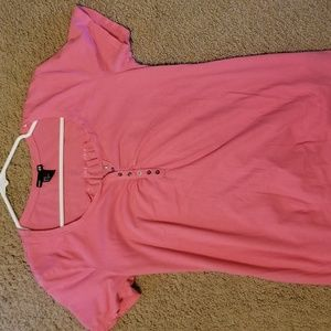 Medium maternity light weight cotton pink tshirt